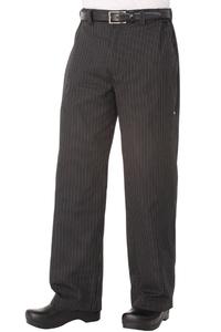 Pantalón Profesional Rayas Gris/Blanco